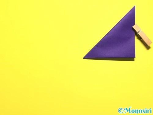 折り紙で朝顔の作り方手順6