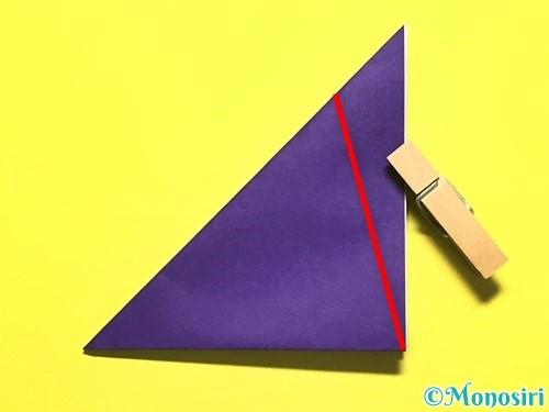 折り紙で朝顔の作り方手順7