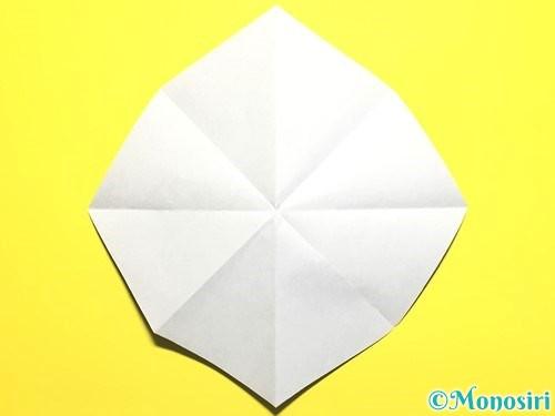 折り紙で朝顔の作り方手順9