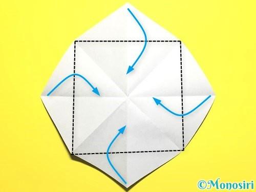 折り紙で朝顔の作り方手順10