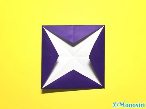 折り紙で朝顔の作り方手順11