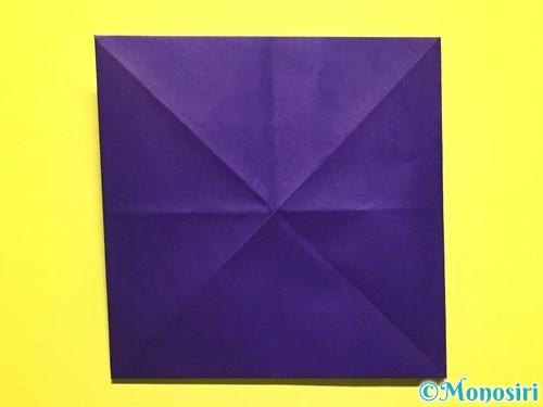 折り紙で朝顔の作り方手順12