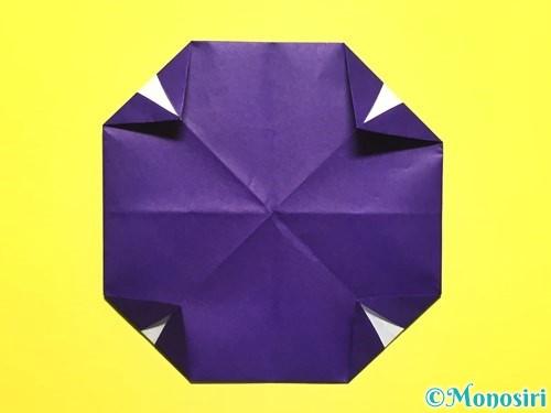 折り紙で朝顔の作り方手順14