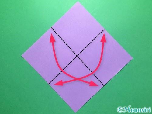 折り紙で朝顔の折り方手順1