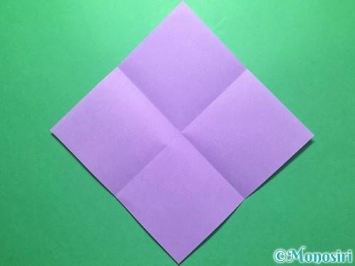 折り紙で朝顔の折り方手順2