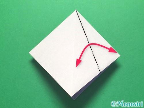 折り紙で朝顔の折り方手順12
