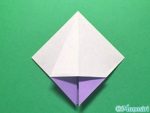 折り紙で朝顔の折り方手順16