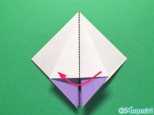 折り紙で朝顔の折り方手順17