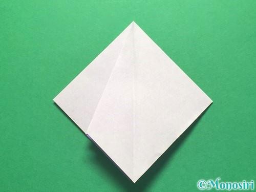 折り紙で朝顔の折り方手順18