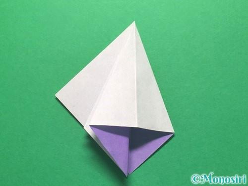 折り紙で朝顔の折り方手順19