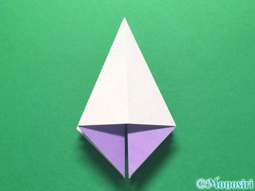 折り紙で朝顔の折り方手順20