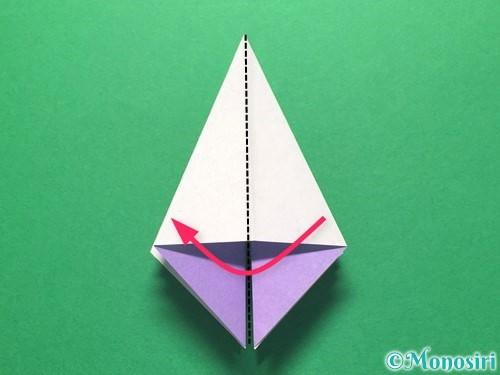 折り紙で朝顔の折り方手順21