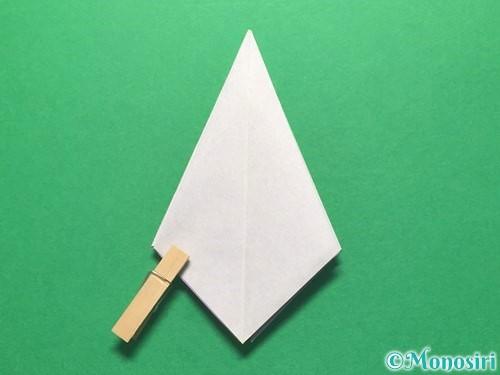 折り紙で朝顔の折り方手順22