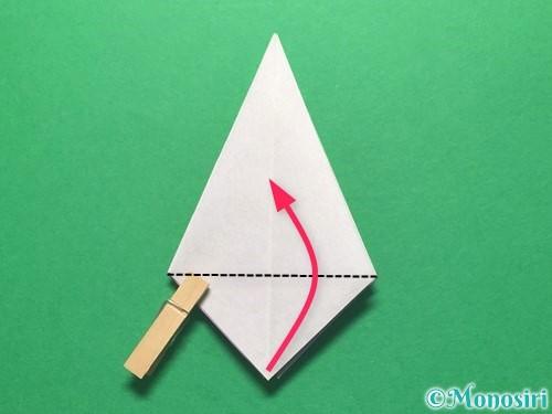 折り紙で朝顔の折り方手順23