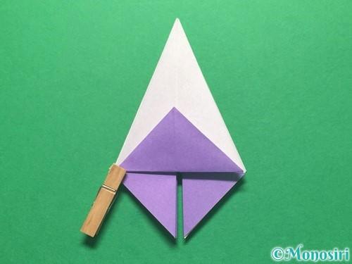 折り紙で朝顔の折り方手順24