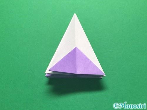 折り紙で朝顔の折り方手順25