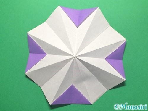 折り紙で朝顔の折り方手順26