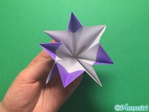 折り紙で朝顔の折り方手順28
