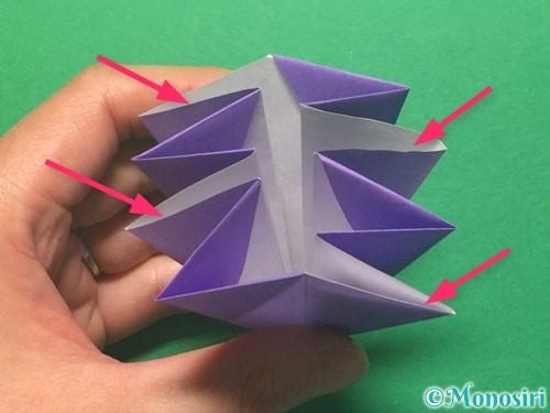 折り紙で朝顔の折り方手順31