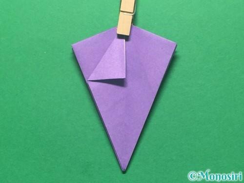 折り紙で朝顔の折り方手順33