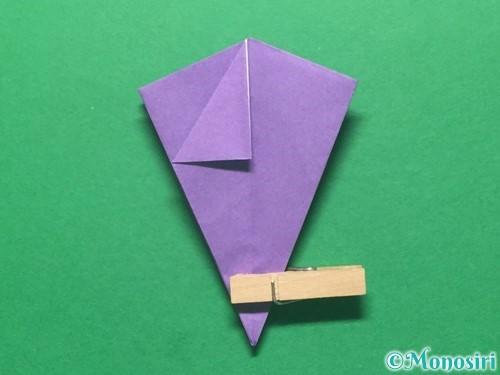 折り紙で朝顔の折り方手順34