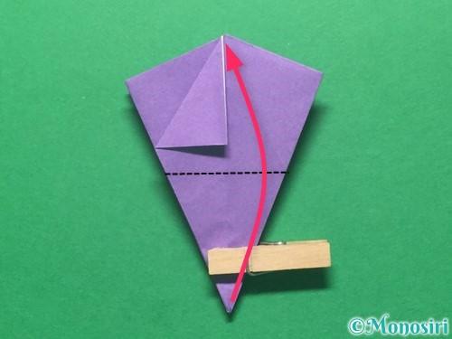 折り紙で朝顔の折り方手順35