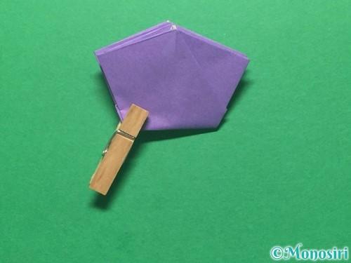 折り紙で朝顔の折り方手順37