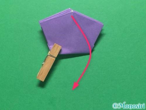 折り紙で朝顔の折り方手順38