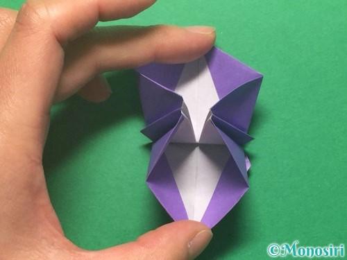 折り紙で朝顔の折り方手順39