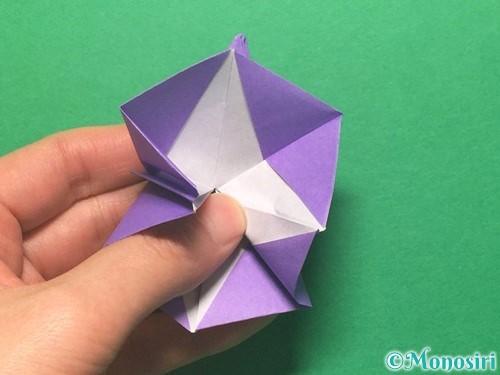 折り紙で朝顔の折り方手順41