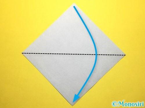 折り紙で朝顔の折り方手順48