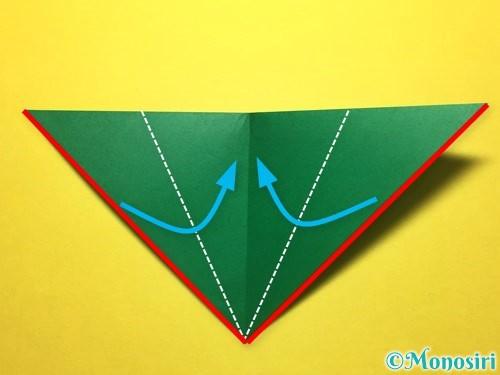 折り紙で朝顔の折り方手順52