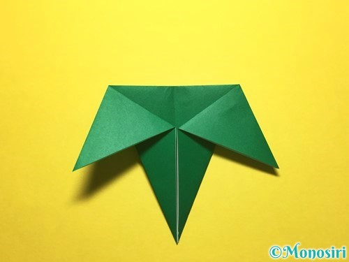 折り紙で朝顔の折り方手順55