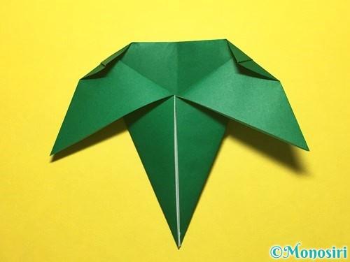 折り紙で朝顔の折り方手順57