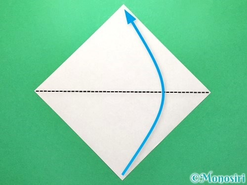折り紙でセミの折り方手順1