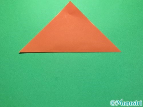 折り紙でセミの折り方手順2