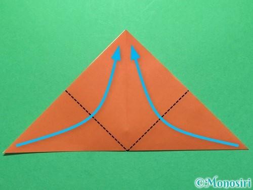 折り紙でセミの折り方手順5