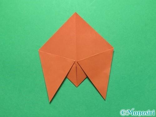 折り紙でセミの折り方手順8