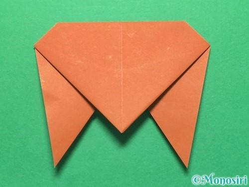 折り紙でセミの折り方手順13