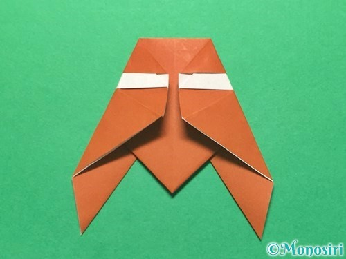 折り紙でセミの折り方手順15