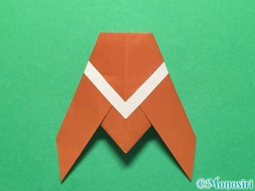 折り紙でセミの折り方手順16