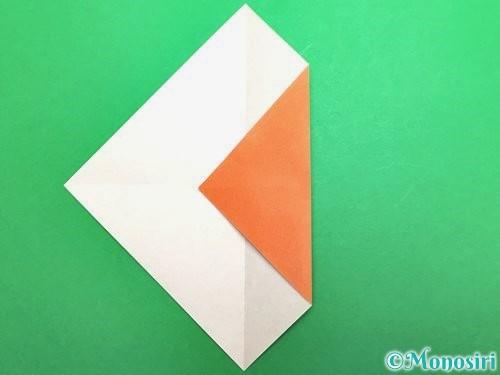 折り紙でセミの折り方手順4
