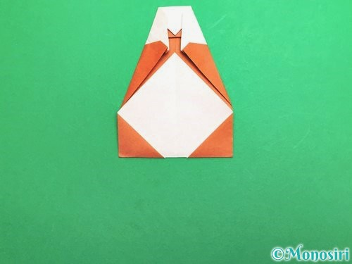 折り紙でセミの折り方手順18
