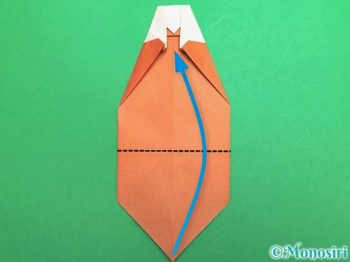 折り紙でセミの折り方手順17