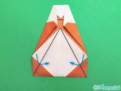 折り紙でセミの折り方手順19