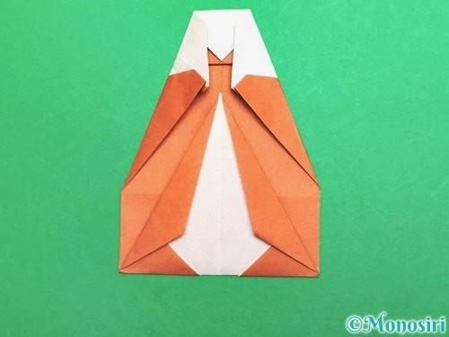 折り紙でセミの折り方手順20