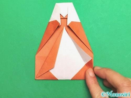 折り紙でセミの折り方手順21
