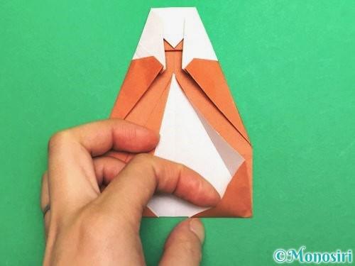 折り紙でセミの折り方手順22