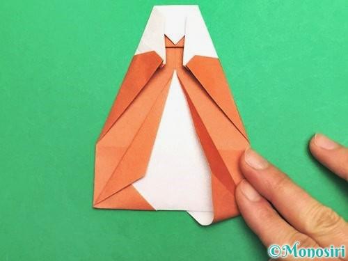 折り紙でセミの折り方手順23