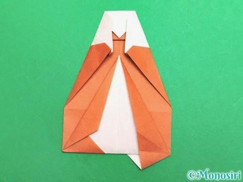 折り紙でセミの折り方手順24